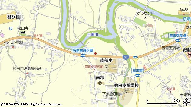 大分県竹田市君ケ園977周辺の地図