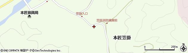 大分県佐伯市本匠大字笠掛687周辺の地図