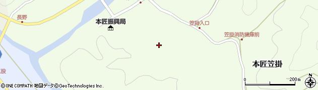 大分県佐伯市本匠大字笠掛165周辺の地図