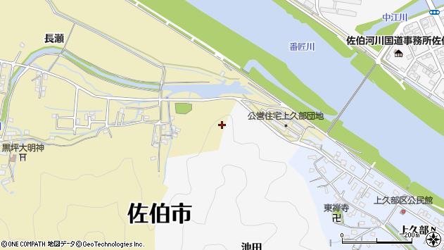 大分県佐伯市稲垣上久部区周辺の地図