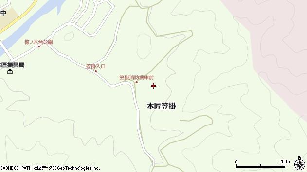 大分県佐伯市本匠大字笠掛751周辺の地図