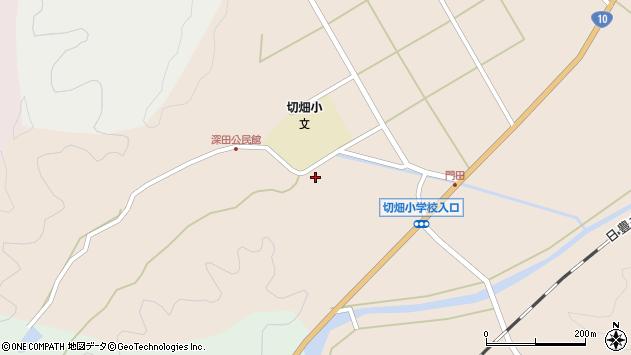 大分県佐伯市弥生大字門田1811周辺の地図