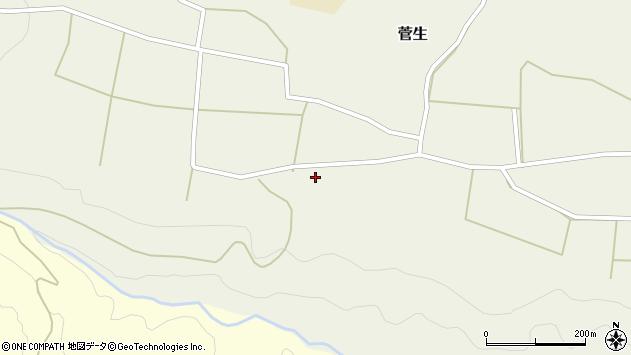大分県竹田市菅生619周辺の地図
