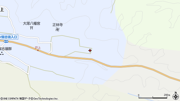 大分県竹田市戸上749周辺の地図