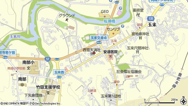 大分県竹田市玉来890周辺の地図
