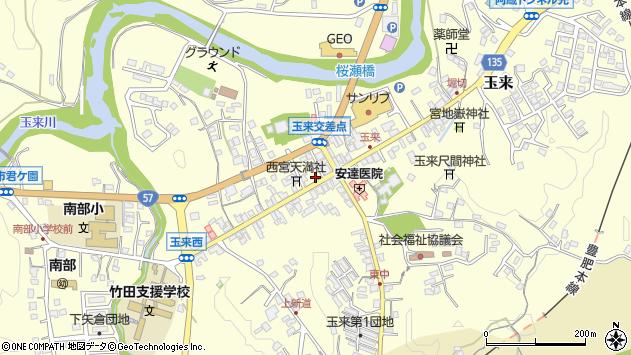 大分県竹田市玉来892周辺の地図
