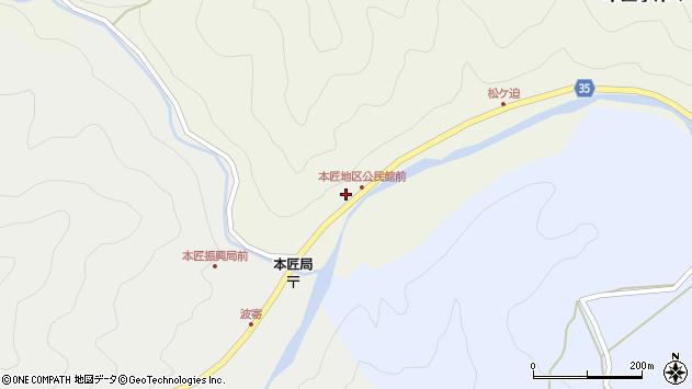 大分県佐伯市本匠大字宇津々2012周辺の地図