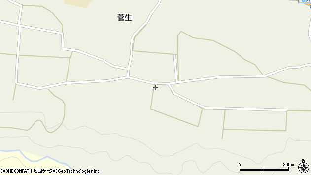 大分県竹田市菅生671周辺の地図