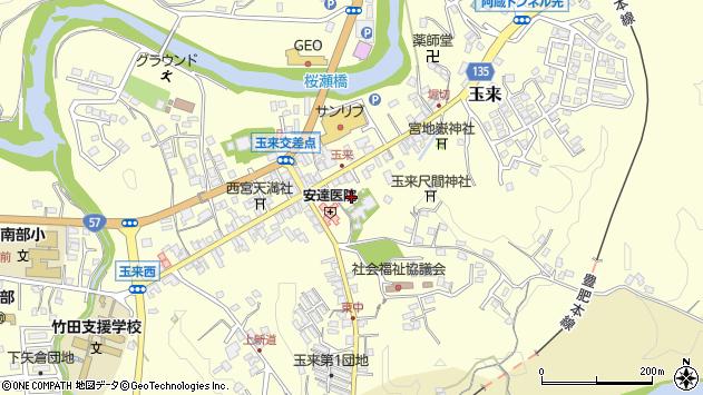 大分県竹田市玉来969周辺の地図