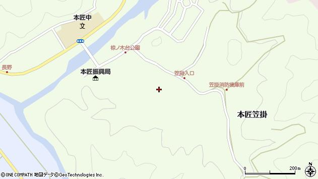 大分県佐伯市本匠大字笠掛113周辺の地図