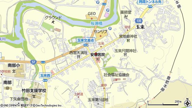大分県竹田市玉来977周辺の地図
