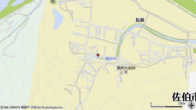 大分県佐伯市稲垣1366周辺の地図