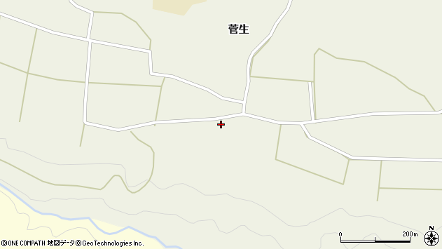 大分県竹田市菅生111周辺の地図