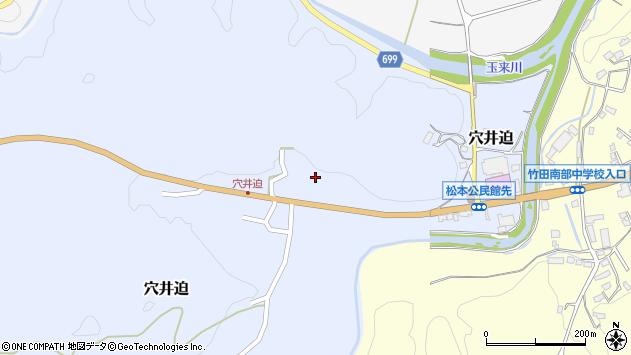 大分県竹田市穴井迫786周辺の地図