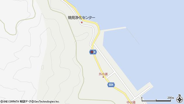 大分県佐伯市鶴見大字地松浦28周辺の地図