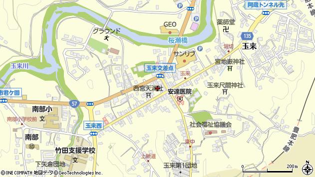 大分県竹田市玉来894周辺の地図