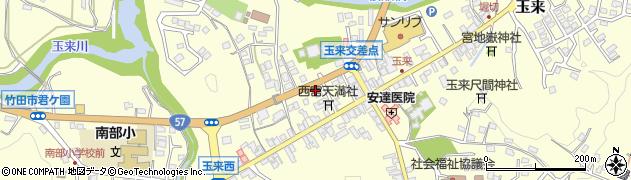 大分県竹田市玉来746周辺の地図