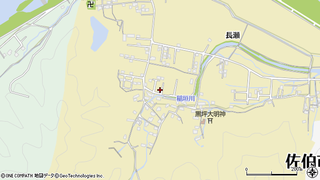 大分県佐伯市稲垣1356周辺の地図