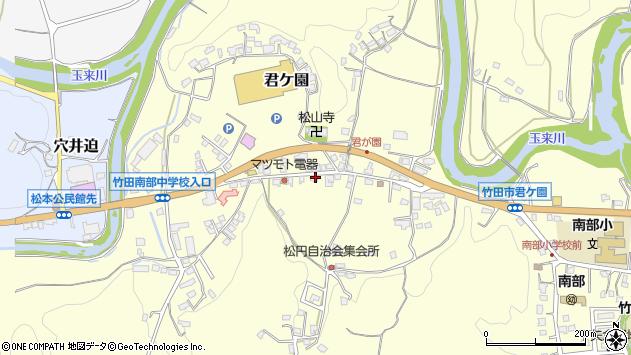 大分県竹田市君ケ園907周辺の地図