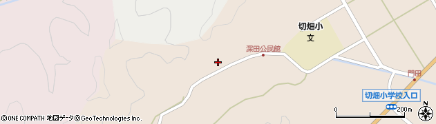 大分県佐伯市弥生大字門田2004周辺の地図
