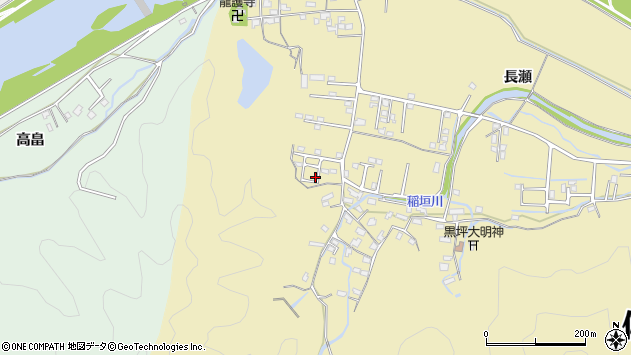 大分県佐伯市稲垣1119周辺の地図