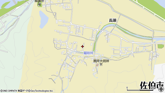 大分県佐伯市稲垣1407周辺の地図