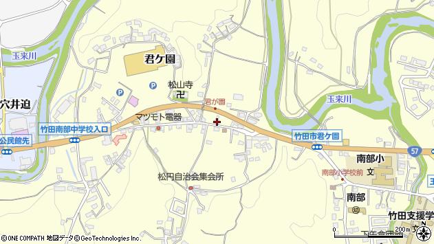 大分県竹田市君ケ園380周辺の地図
