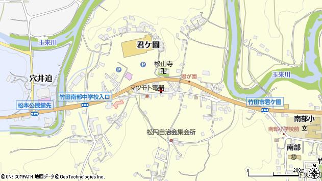 大分県竹田市君ケ園395周辺の地図