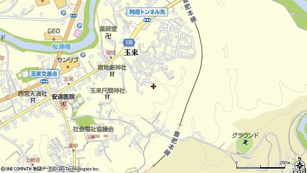 大分県竹田市玉来576周辺の地図