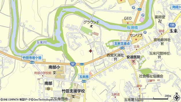 大分県竹田市玉来791周辺の地図