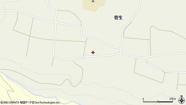 大分県竹田市菅生551周辺の地図