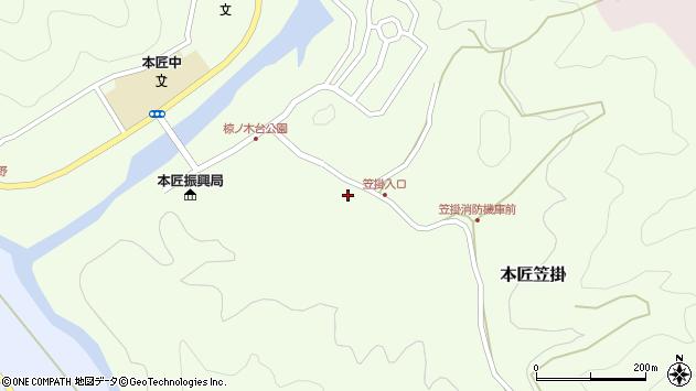 大分県佐伯市本匠大字笠掛72周辺の地図