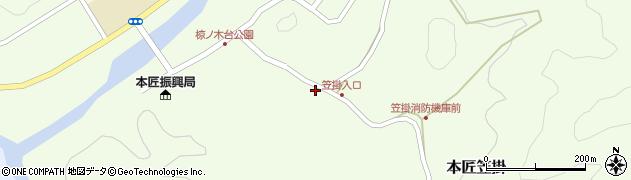 大分県佐伯市本匠大字笠掛71周辺の地図