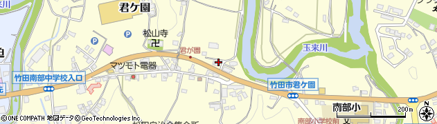 大分県竹田市君ケ園378周辺の地図