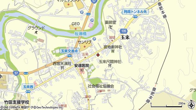 大分県竹田市玉来957周辺の地図