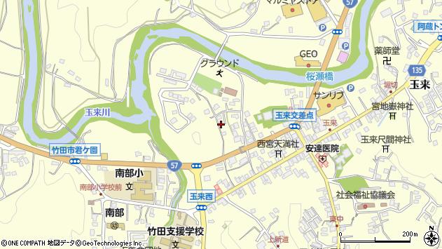 大分県竹田市玉来770周辺の地図