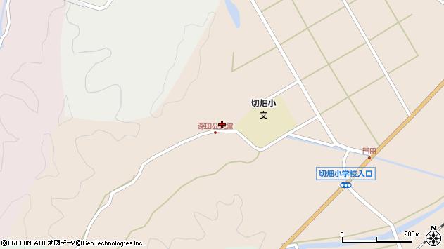 大分県佐伯市弥生大字門田2037周辺の地図