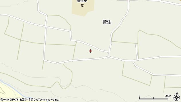 大分県竹田市菅生523周辺の地図