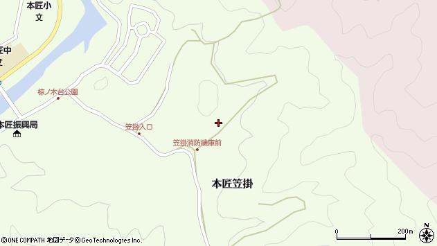 大分県佐伯市本匠大字笠掛888周辺の地図