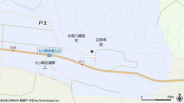 大分県竹田市戸上697周辺の地図