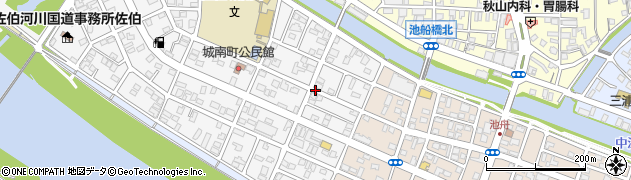大分県佐伯市城南町4周辺の地図
