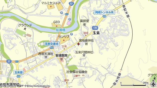 大分県竹田市玉来949周辺の地図