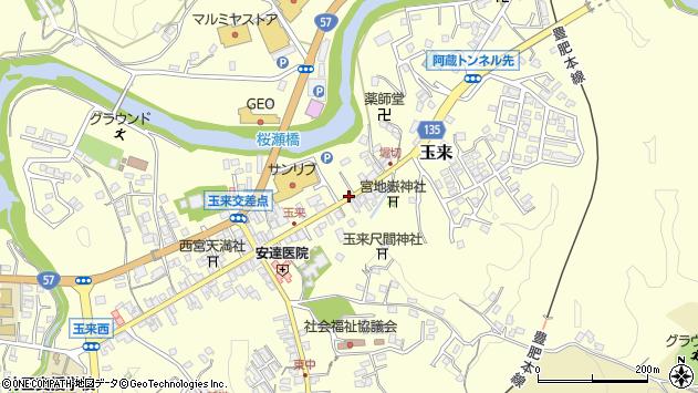 大分県竹田市玉来931周辺の地図