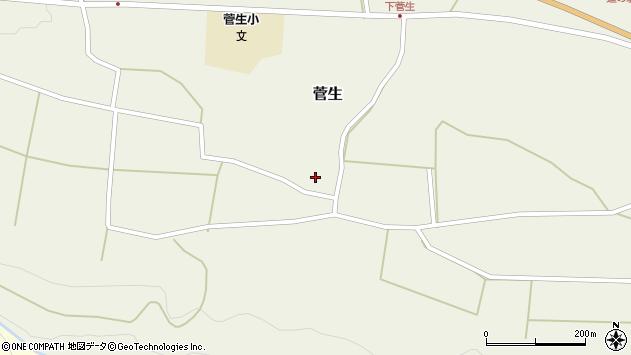 大分県竹田市菅生529周辺の地図