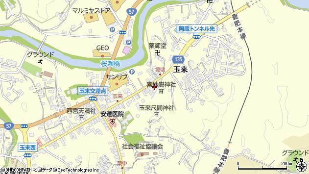 大分県竹田市玉来943周辺の地図