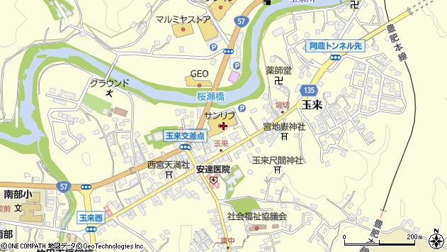 大分県竹田市玉来710周辺の地図