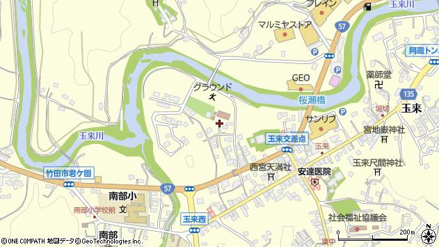 大分県竹田市玉来801周辺の地図