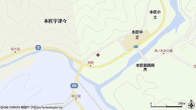 大分県佐伯市本匠大字笠掛1605周辺の地図