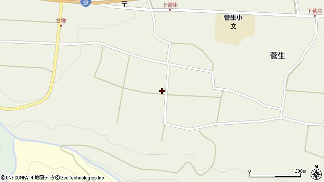 大分県竹田市菅生405周辺の地図