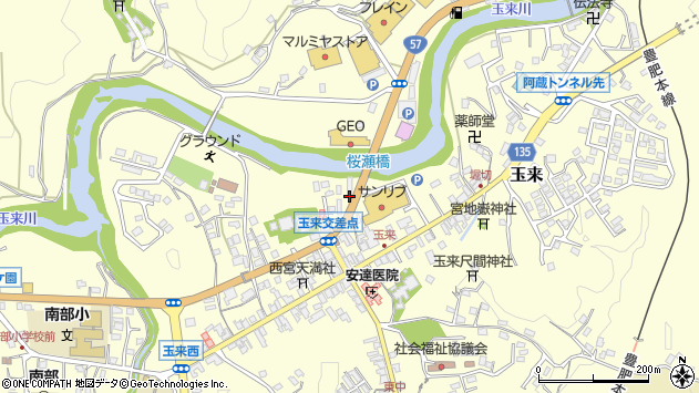 大分県竹田市玉来717周辺の地図